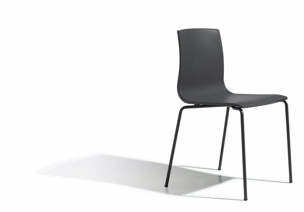 Design Stuhl stapelbar, Farbe anthrazit