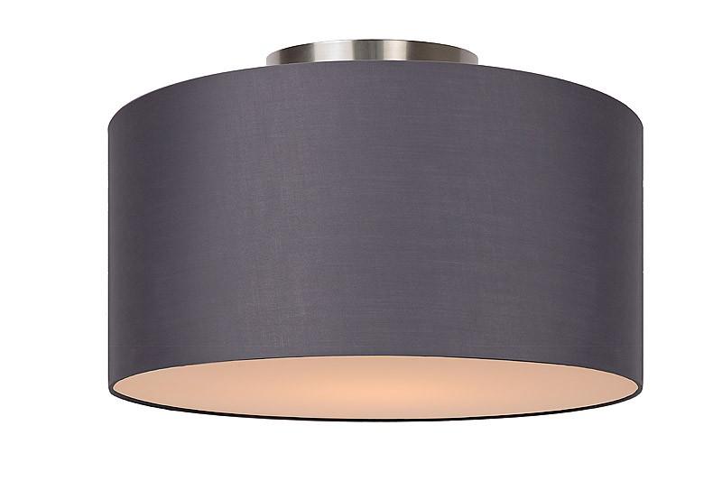 Deckenleuchte rund grau, Deckenlampe Lampenschirm grau, Durchmesser 35 cm