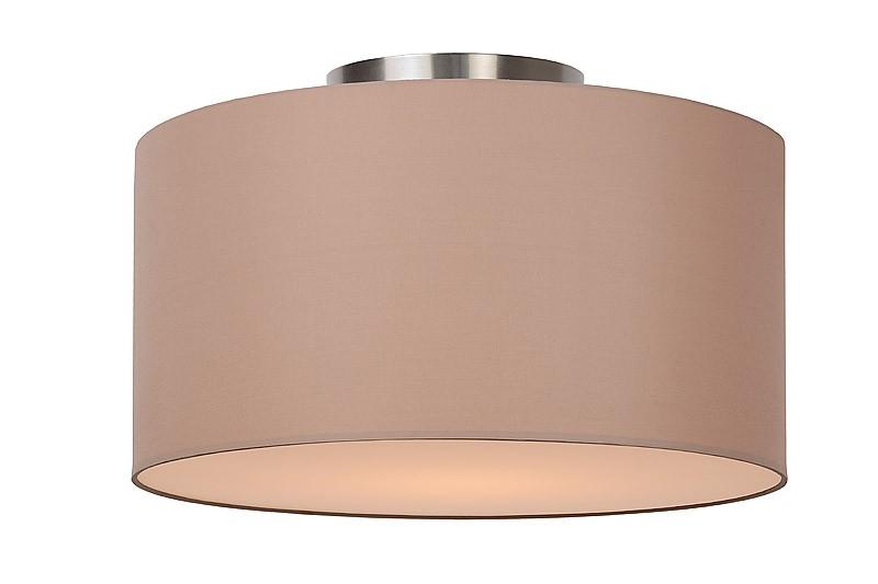 Deckenleuchte rund taupe, Deckenlampe taupe Lampenschirm, Durchmesser 35 cm