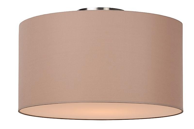 Deckenleuchte rund taupe, Deckenlampe taupe Lampenschirm, Durchmesser 45 cm