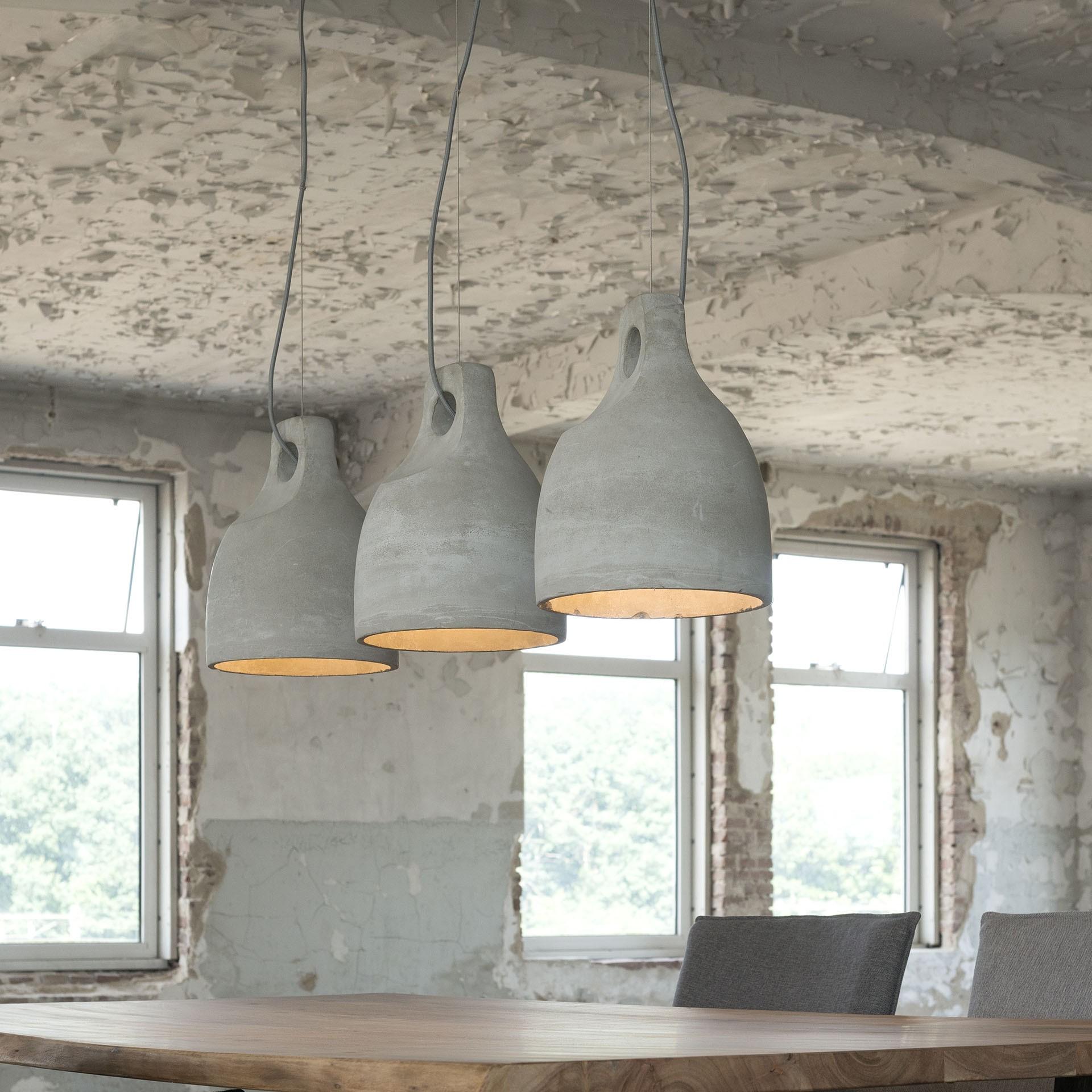pendelleuchte grau beton beton lampe grau h ngelampe. Black Bedroom Furniture Sets. Home Design Ideas