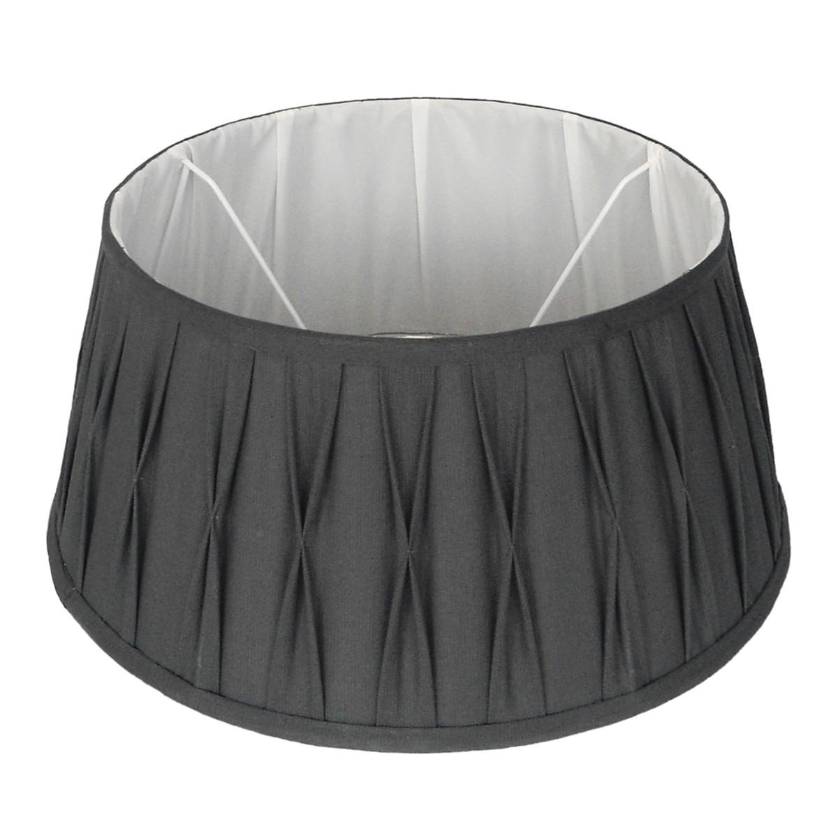 Lampenschirm grau rund,  Durchmesser 25 cm