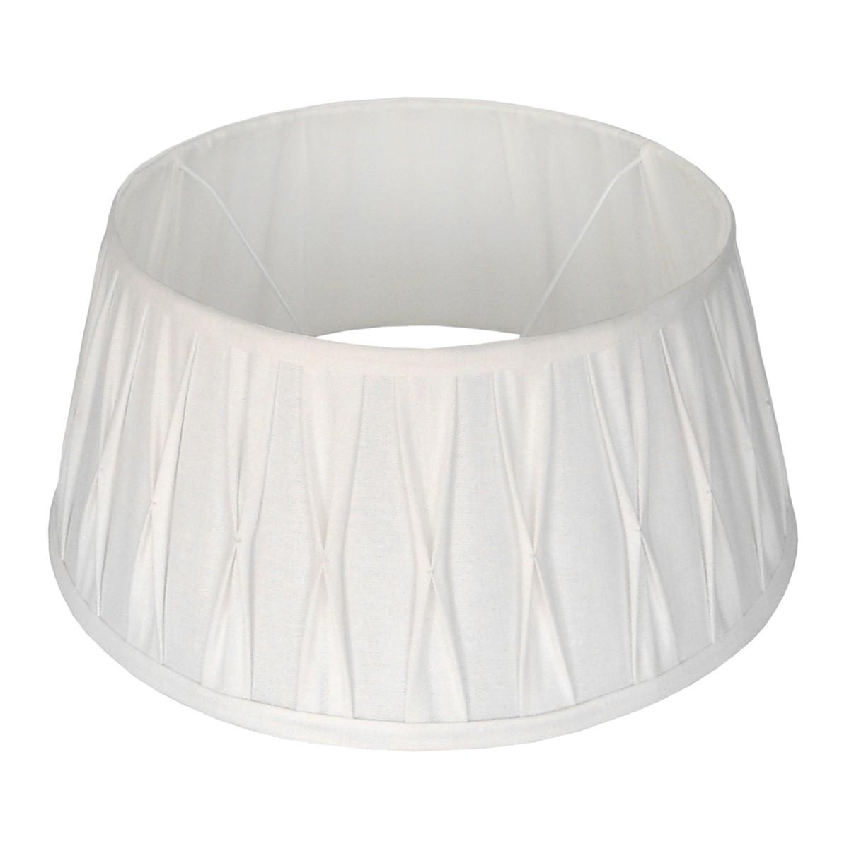 Lampenschirm weiß rund,  Durchmesser 25 cm