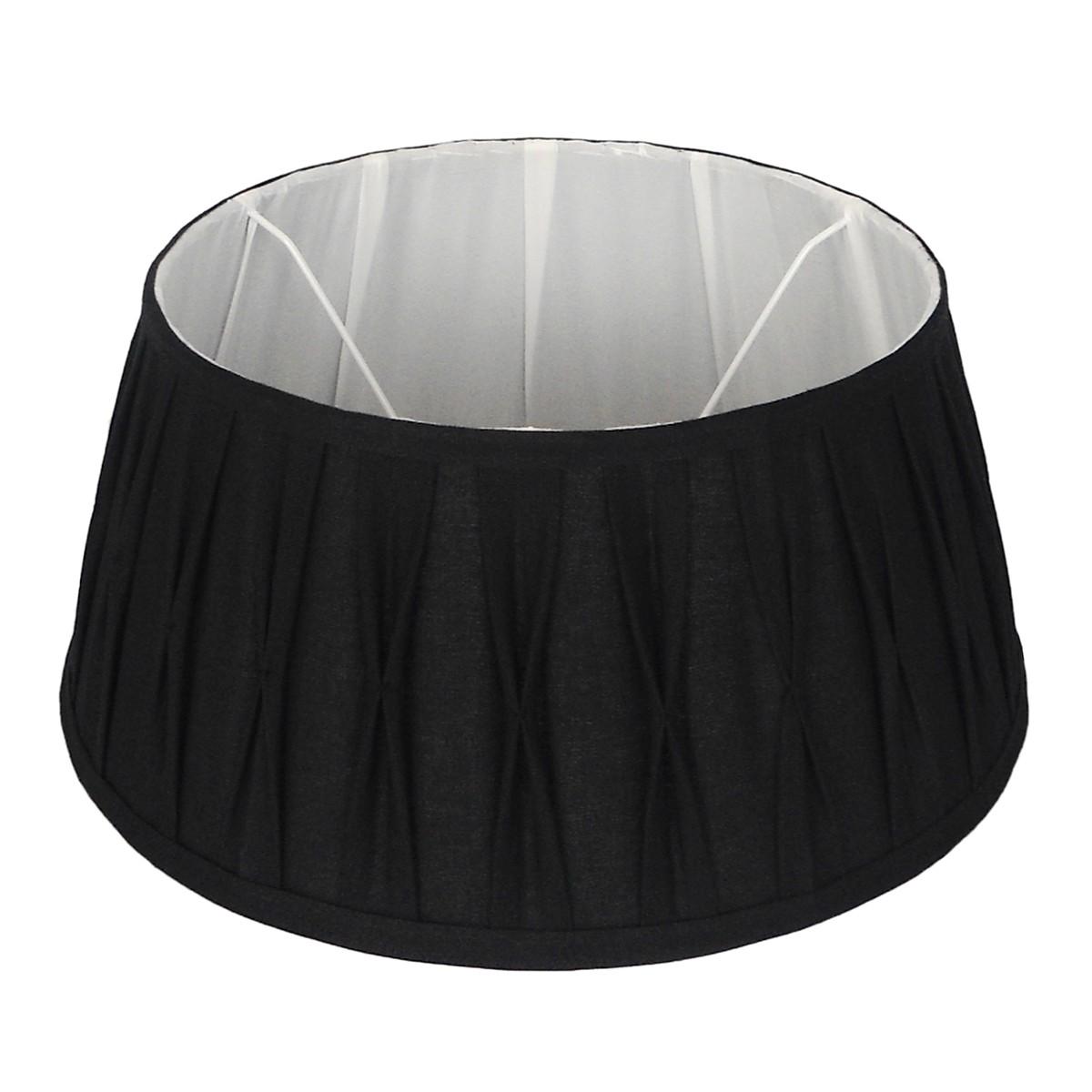 Lampenschirm schwarz rund,  Durchmesser 20 cm