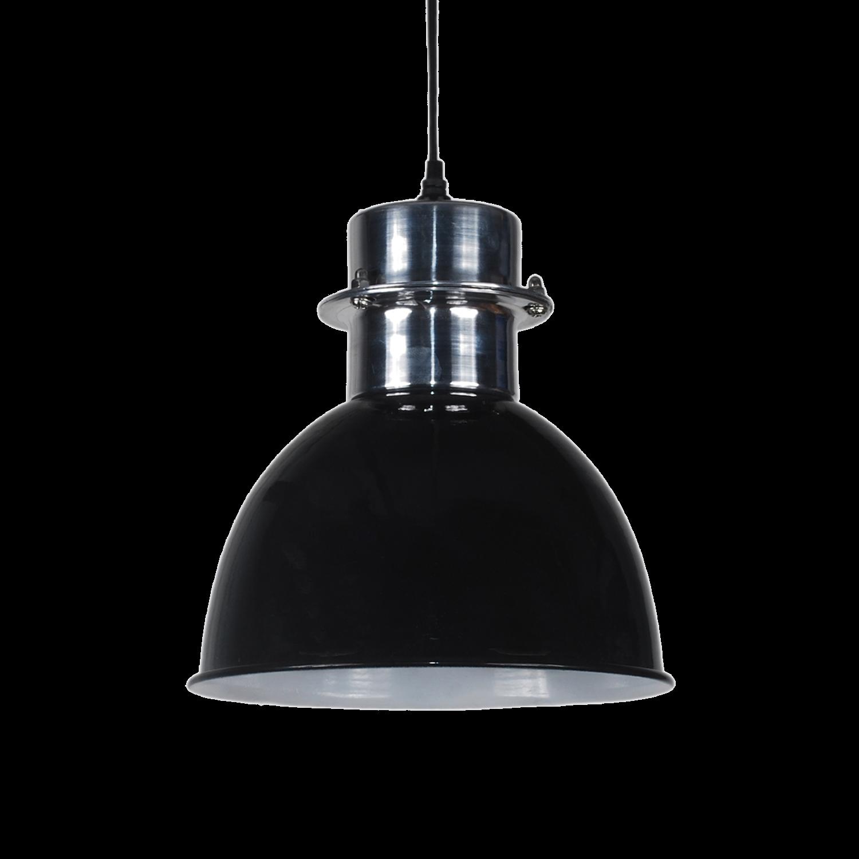 Pendelleuchte schwarz glanz, Hängelampe Metall schwarz, Durchmesser 20 cm