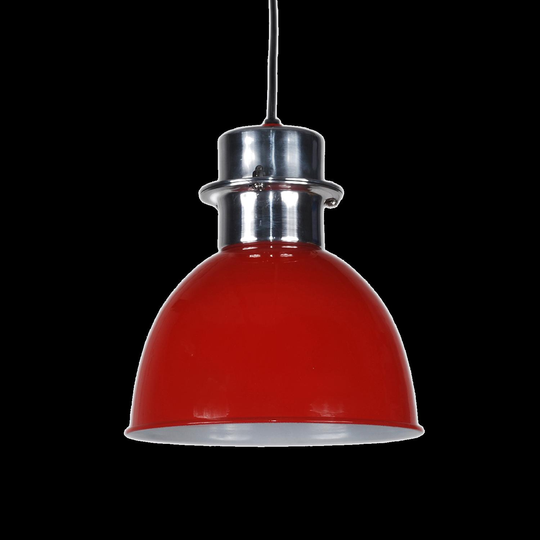 Pendelleuchte rot glanz, Hängelampe Metall rot, Durchmesser 20 cm