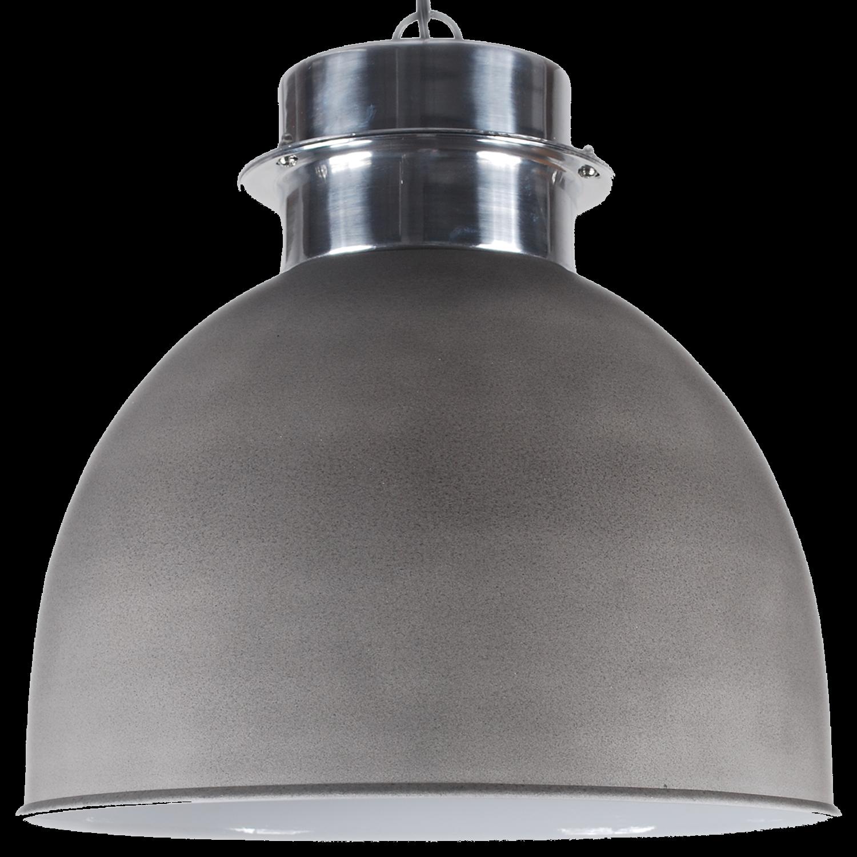 Pendelleuchte grau-zement, Hängelampe Metall grau, Durchmesser 30 cm