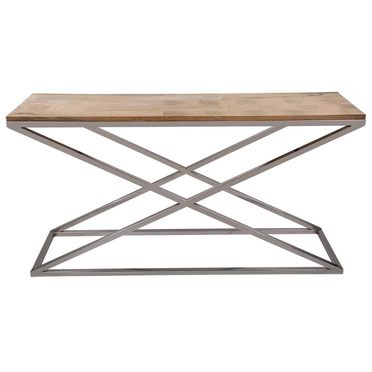 sideboard holz metall wandtiisch verchromt metall holzplatte breite 150 cm m bel designm bel. Black Bedroom Furniture Sets. Home Design Ideas