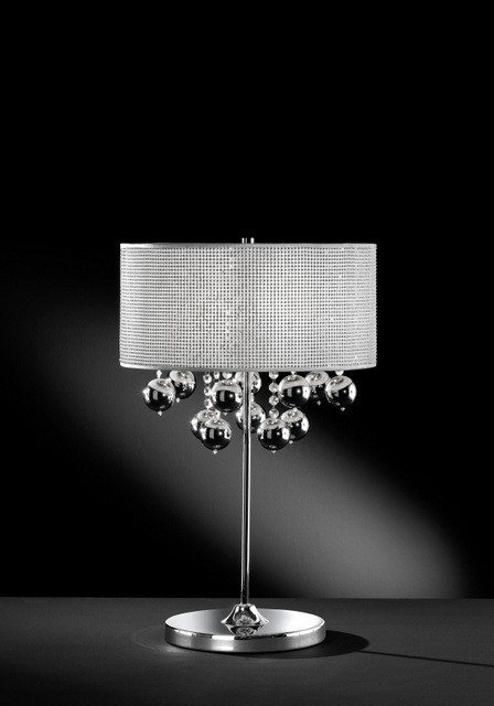 Klassisch-elegante Tischleuchte, Farbe chrom