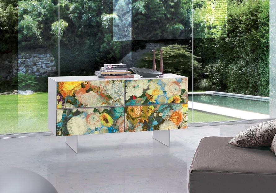 Sideboard Artdesign mit vier Türen, Breite 126 cm