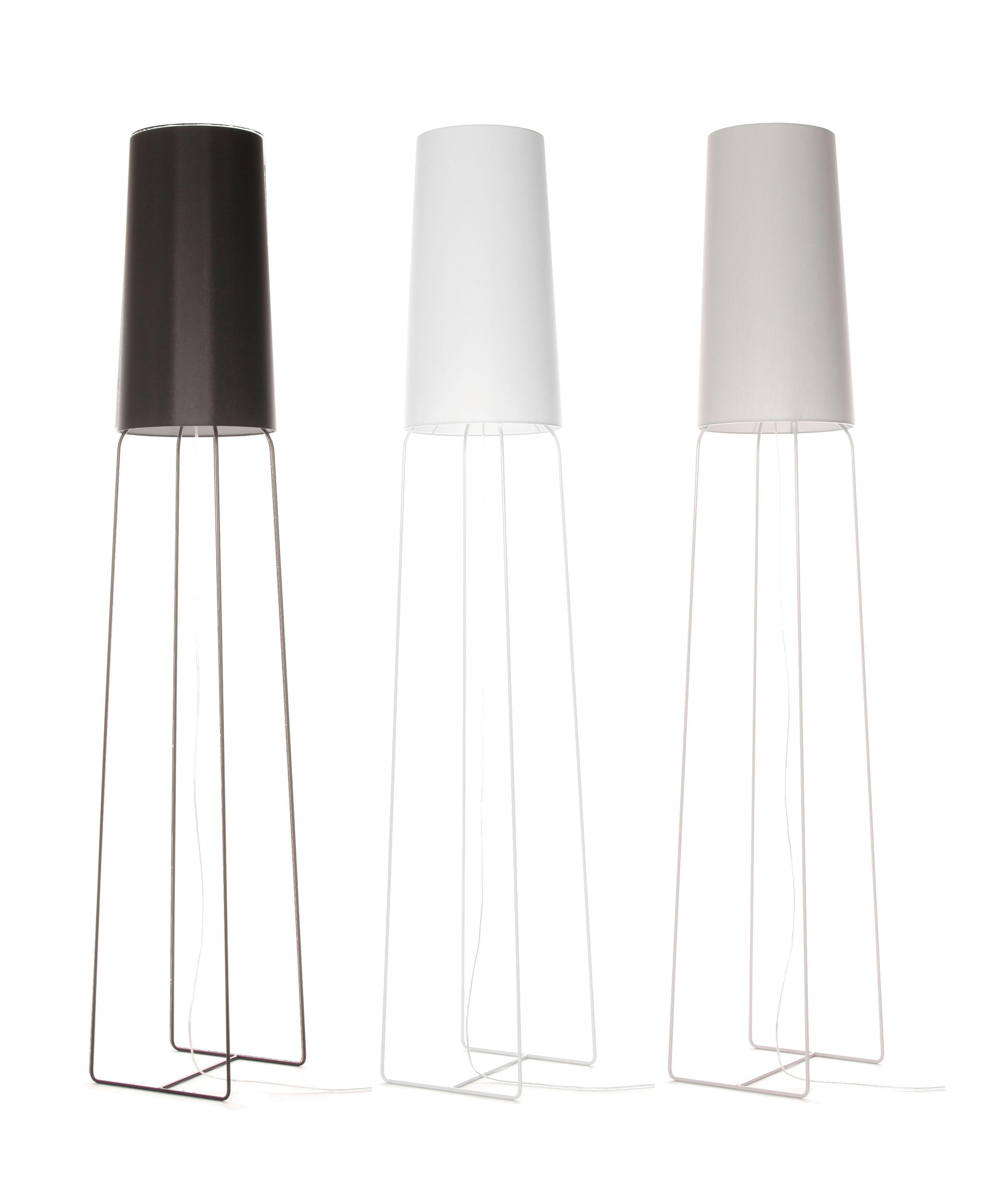 Stehleuchte schwarz, weiß, grau, Stehlampe mit Lampenschirm