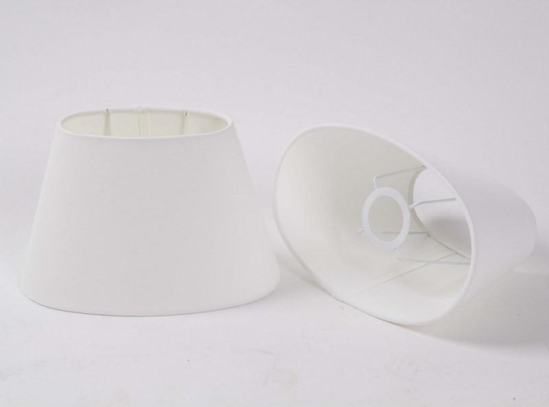 Ovaler Lampenschirm für Tischleuchte, Lampenschirm weiß, Ø 25 cm