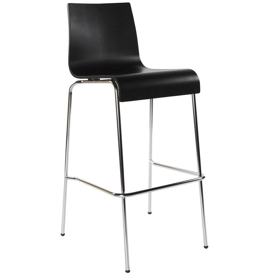 Barstuhl stapelbar, Barhocker schwarz  stapelbar Metall, Sitzhöhe 74 cm