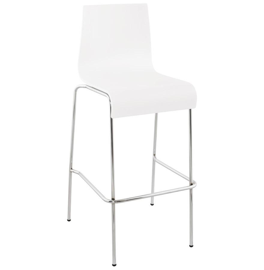 Barstuhl stapelbar weiß, Barhocker stapelbar Metall, Sitzhöhe 74 cm