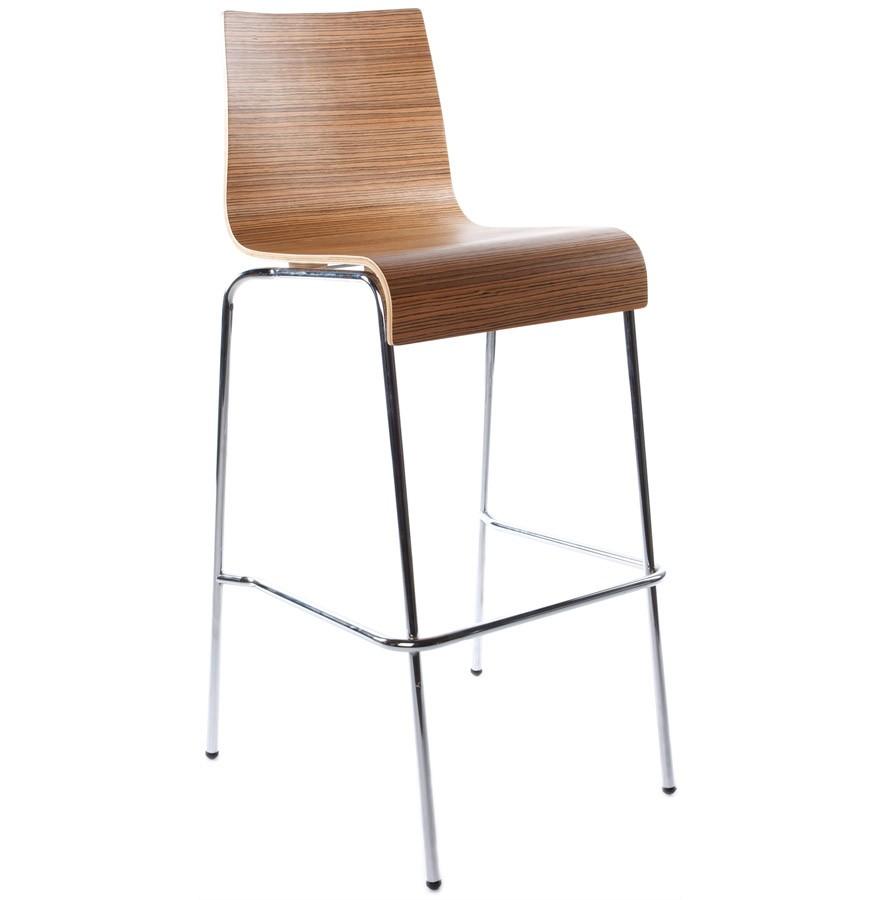 Barstuhl braun stapelbar, Barhocker braun stapelbar, Sitzhöhe 74 cm