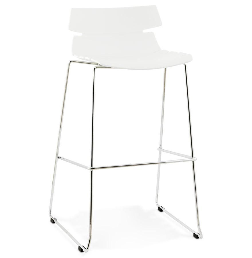 Barstuhl weiß stapelbar, Barhocker stapelbar weiß, Sitzhöhe 77 cm
