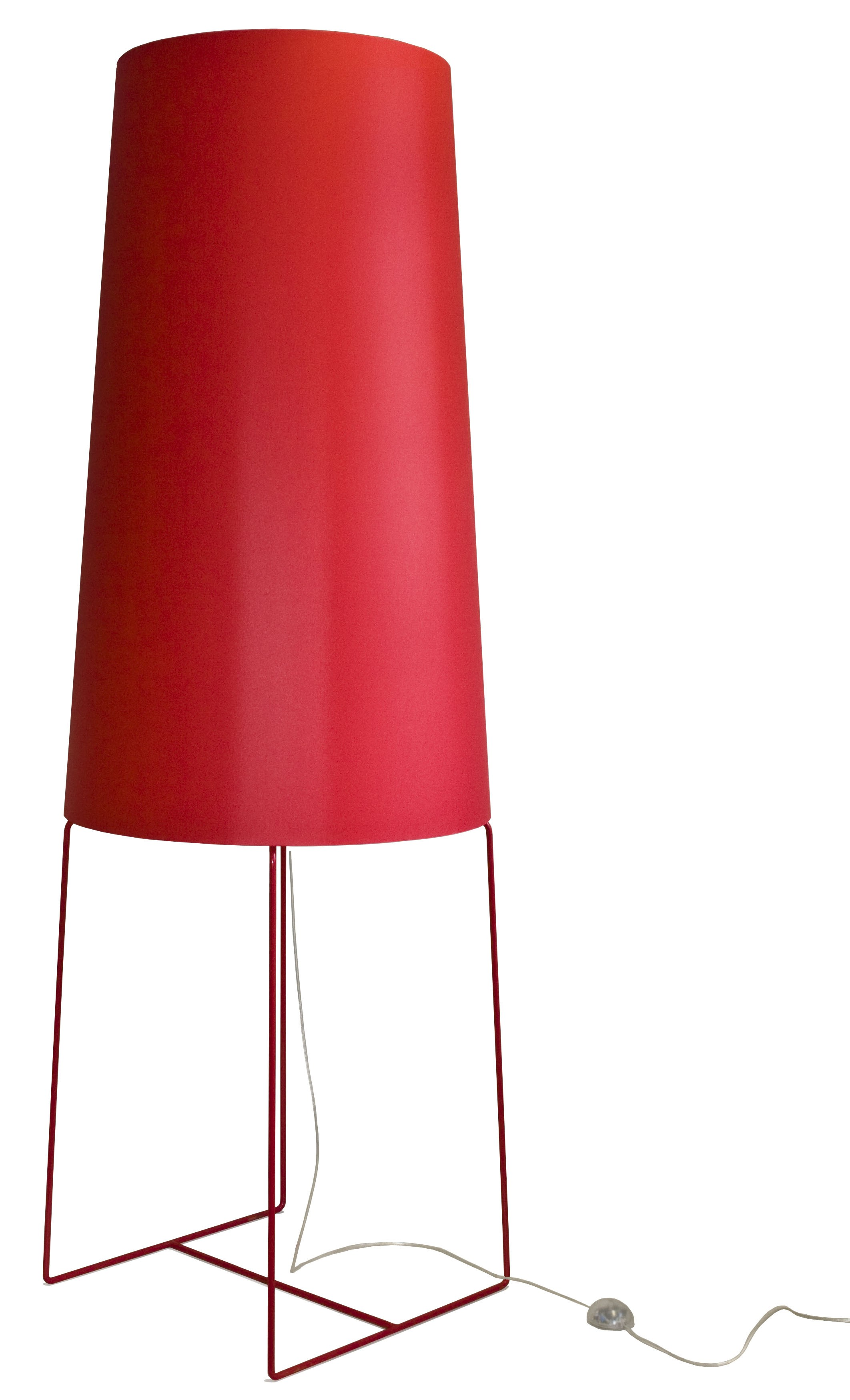 XXL Stehleuchte rot, moderne Stehlampe rot, Stehlampe rot