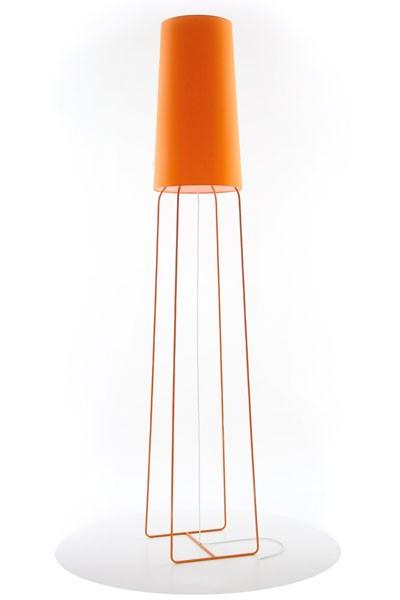 Stehleuchte orange, Stehlampe mit Lampenschirm orange