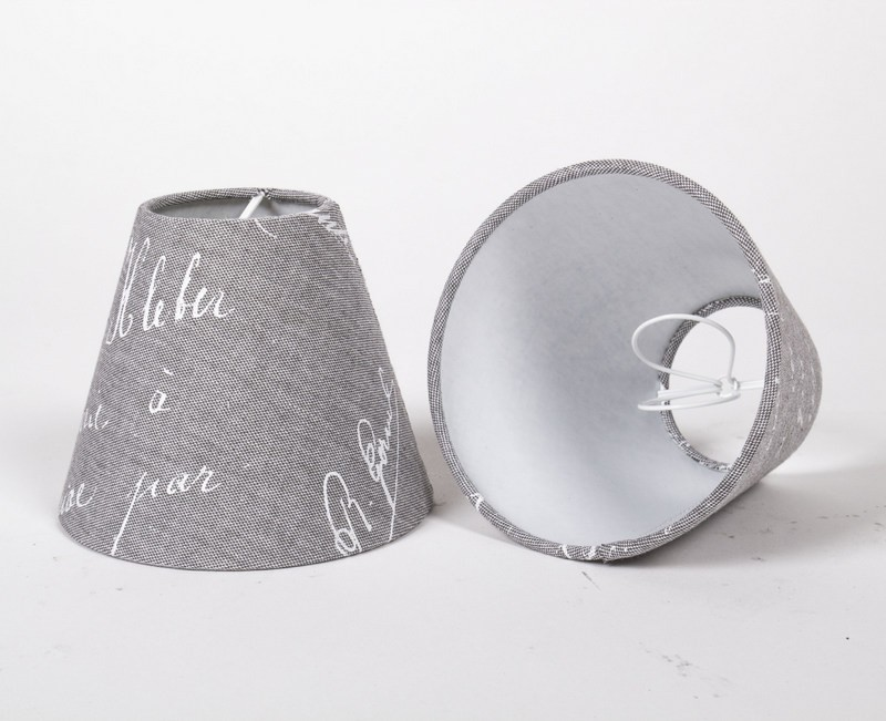 KIemmschirm, Lampenschirm für Kronleuchter, Form rund Ø 14 cm