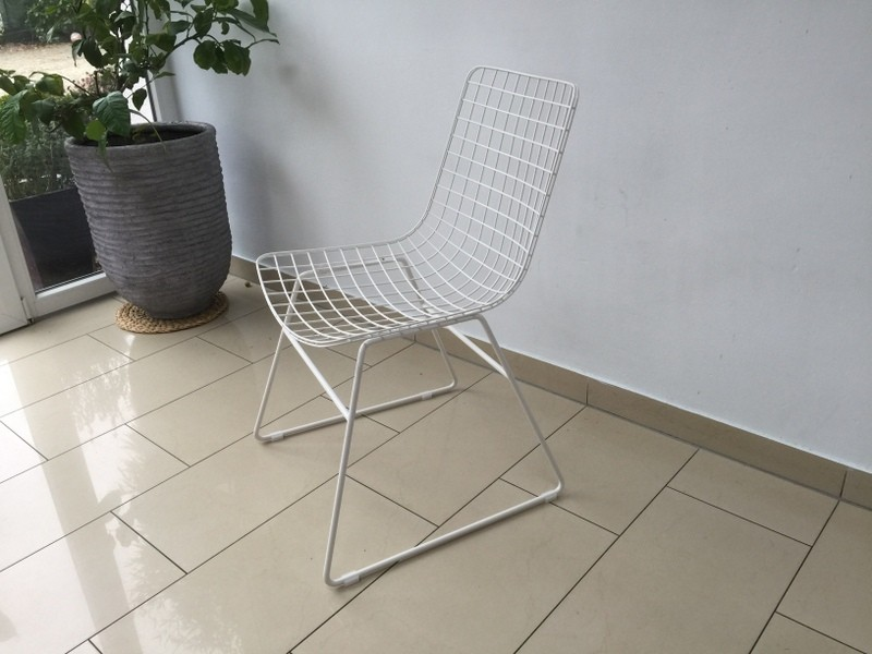 Stuhl Metall weiß, Esszimmerstuhl, Metall Stuhl weiß
