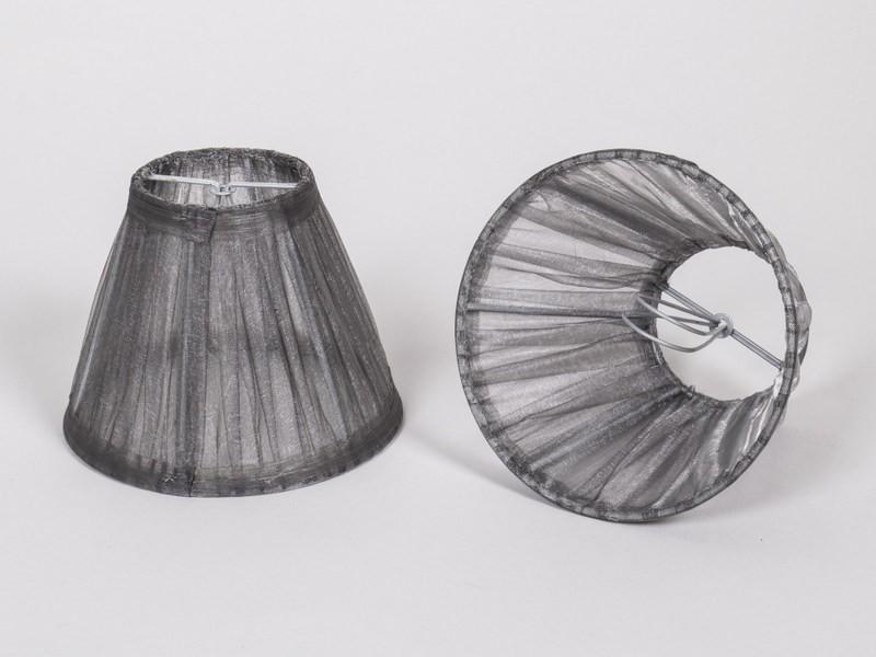 Kronleuchter Mit Organza Schirm ~ Kiemmschirm organza grau silber lampenschirm für kronleuchter