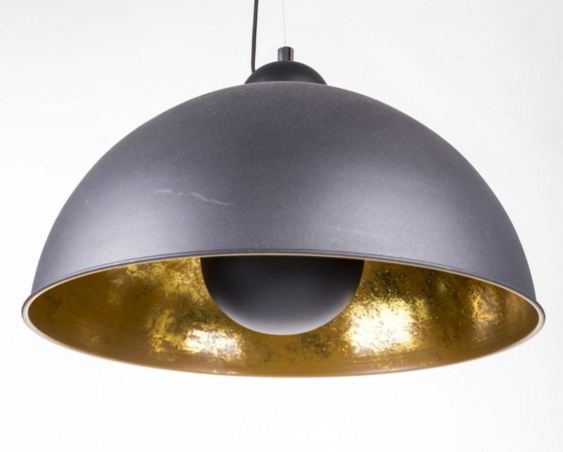Pendelleuchte aus Metall, Hängeleuchte Farbe schwarz-gold, Durchmesser 53 cm