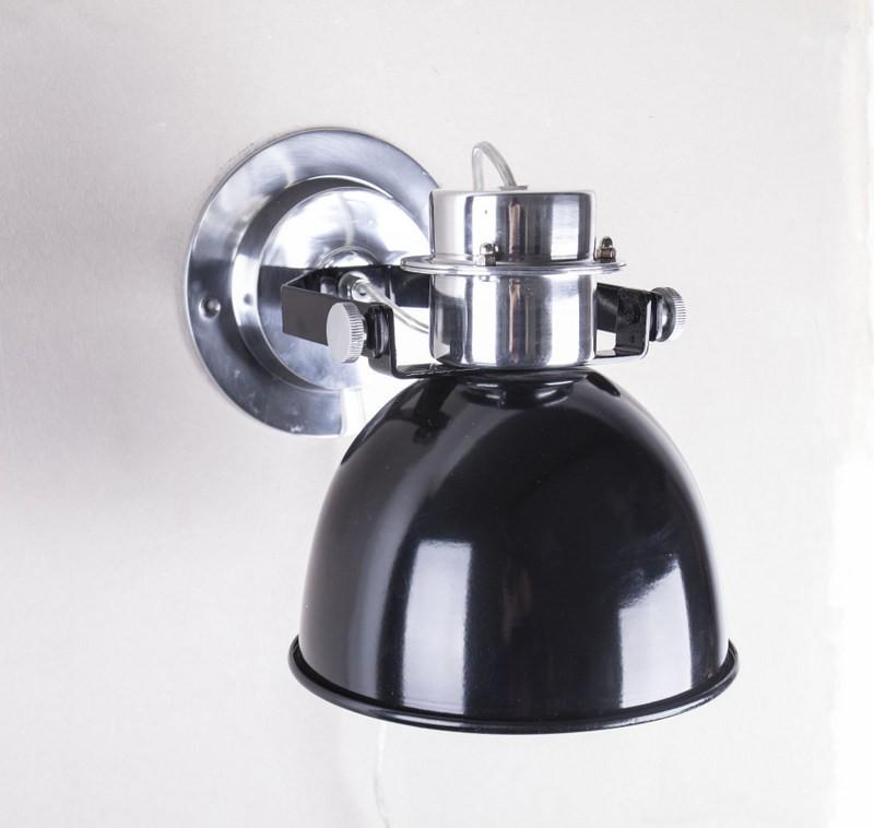 Wandleuchte rund, Farbe Schwarz , Ø 20 cm