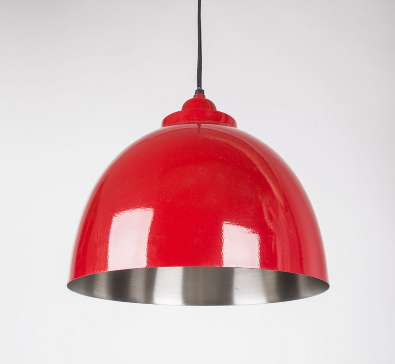 Moderne Pendelleuchte, Hängeleuchte Rot, Ø 45 cm