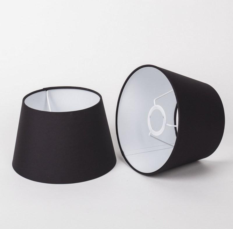 Lampenschirm für Tischleuchte, Form rund, Farbe Schwarz, Durchmesser 20 cm