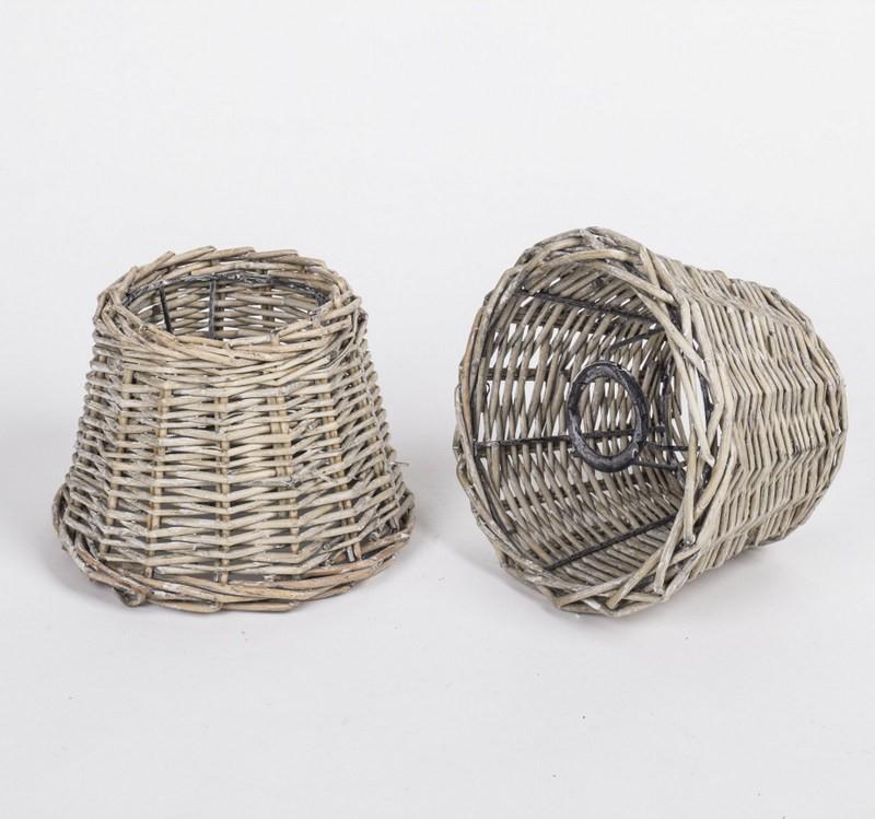 Lampenschirm Rattan für Tischleuchte, Form rund,  Durchmesser 21 cm