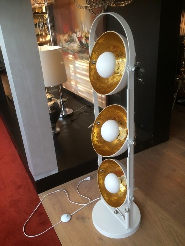 Stehleuchte weiß-Gold, moderne Stehlampe in zwei Farben