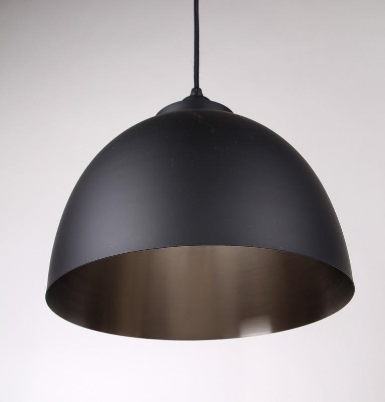 Moderne Pendelleuchte, Farbe Schwarz-Nickel, Ø  45 cm