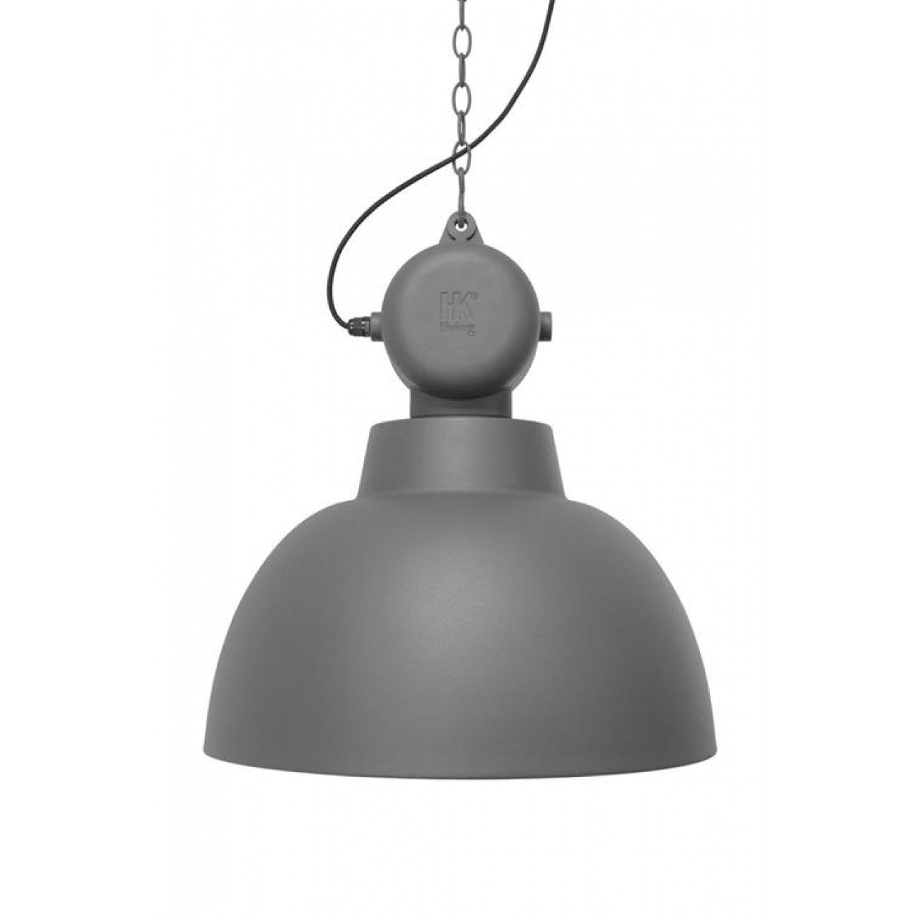 Hängeleuchte Fabrikart, Pendelleuchte grau-matt, Lampe Industriedesign, Ø 40 cm