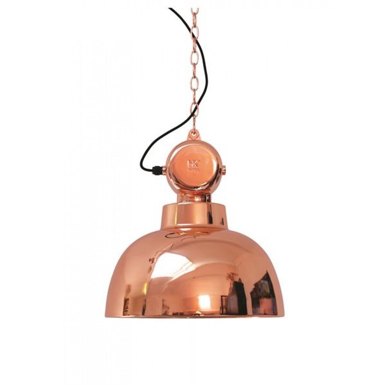 Hängeleuchte Fabrikart, Pendelleuchte Kupfer Industriedesign, Ø 40 cm