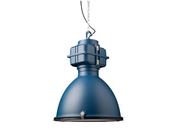 Hängeleuchte blau Industriedesign, Industrie Hängelampe blau, Durchmesser 50 cm