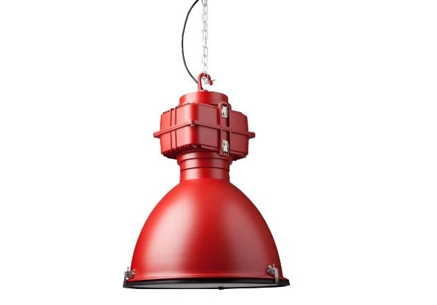 Hängeleuchte rot Industriedesign, Industrie Hängelampe rot, Durchmesser 50 cm