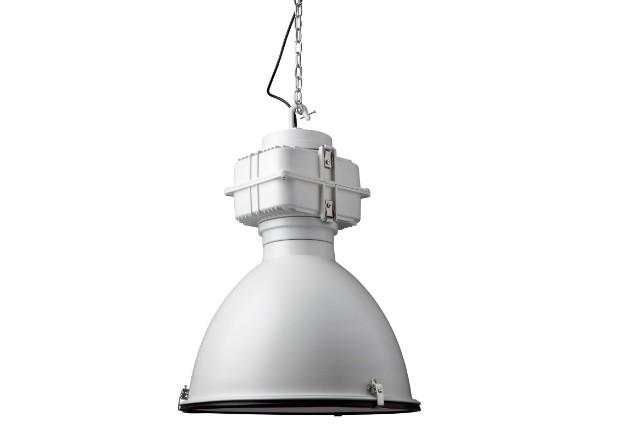 Hängeleuchte weiß Industriedesign, Industrie Hängelampe weiß, Durchmesser 50 cm