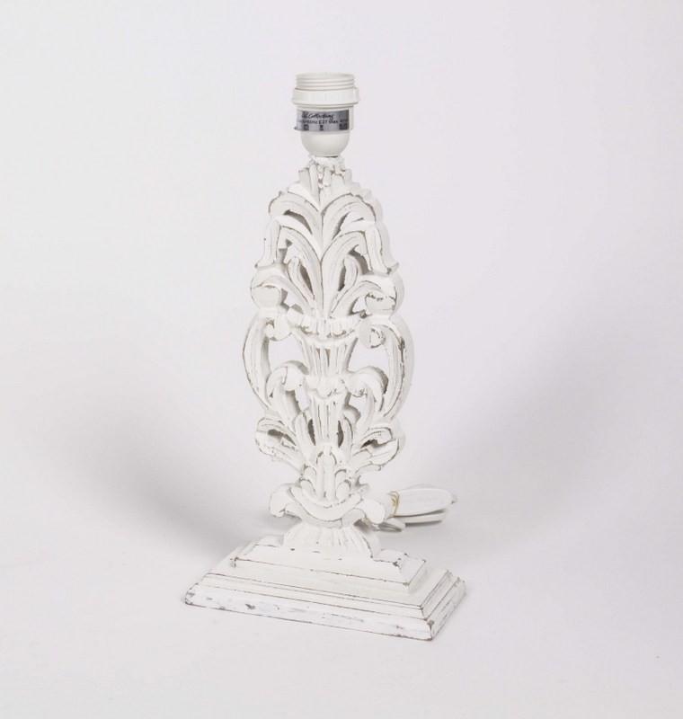Lampenfuß für eine Tischleuchte, Weiß-Vintage, Höhe 37 cm