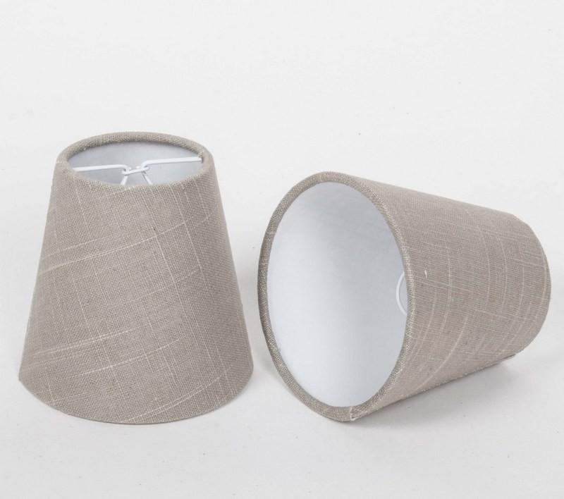 KIemmschirm, Lampenschirm für Kronleuchter, Form rund Ø 11 cm