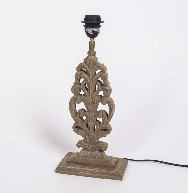 Lampenfuß für eine Tischleuchte, Farbe Braun, Höhe 41 cm