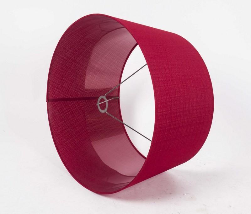 Lampenschirm, Rot, Form rund Ø 60 cm