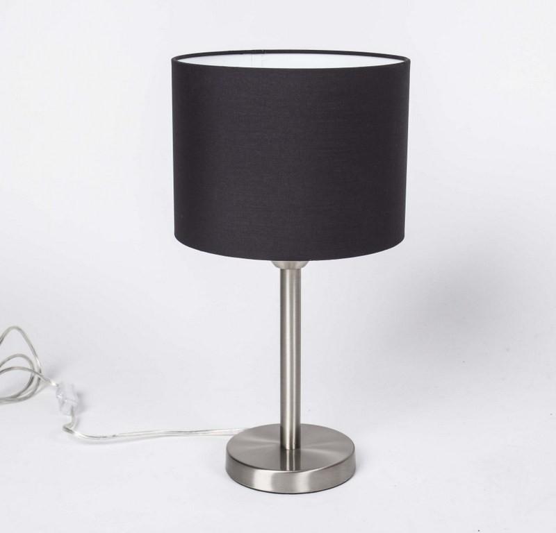 Tischlampe, Tischleuchte mit Lampenschirm schwarz