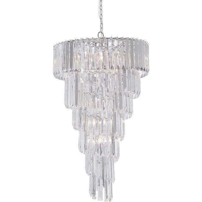 Hängeleuchte Kristallklar, Hängelampe Acryl-Glas, Durchmesser 68 cm