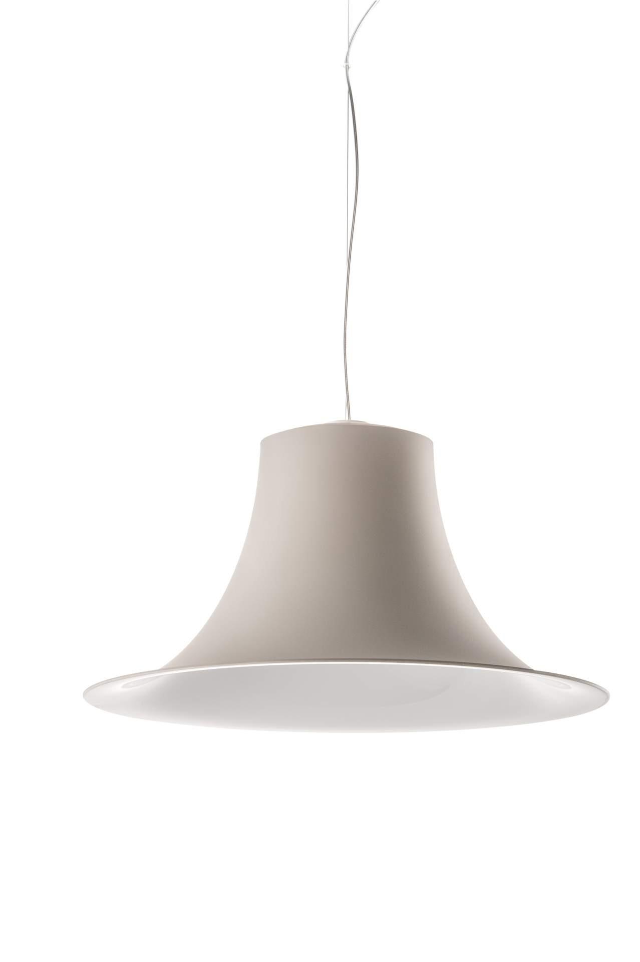 Hängeleuchte beige,  Pendelleuchte beige-weiß, Durchmesser 52 cm