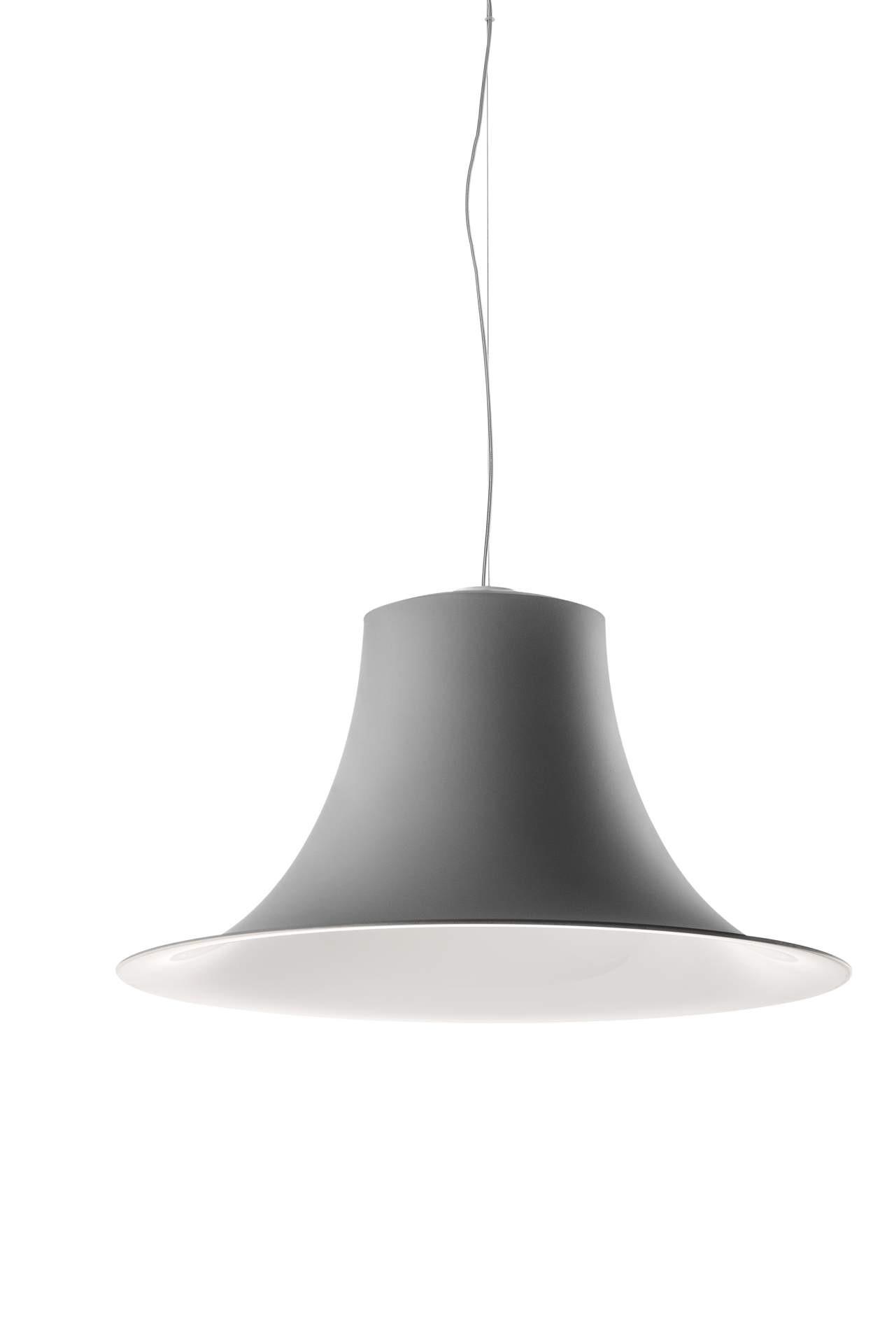 Hängeleuchte grau,  Pendelleuchte grau-weiß, Durchmesser 52 cm