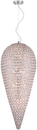 Hängeleuchte Glas-Silber, Pendelleuchte, Durchmesser 40 cm