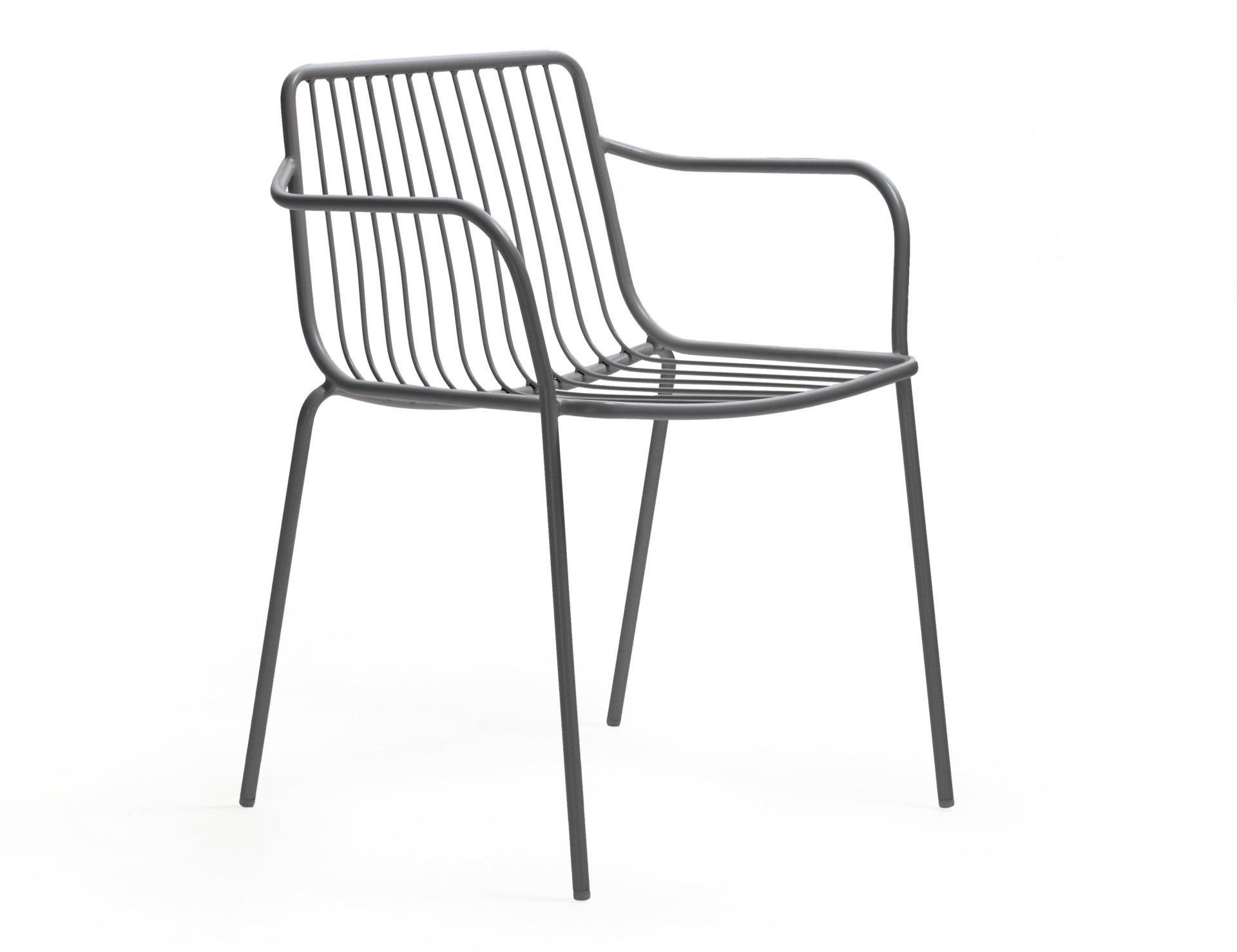Stuhl Grau Mit Armlehne Metall Stapelbar Gartenstuhl Grau Metall