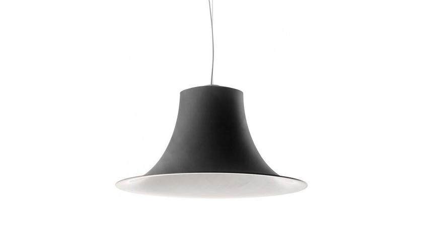 Hängeleuchte schwarz,  Pendelleuchte schwarz-weiß, Durchmesser 52 cm