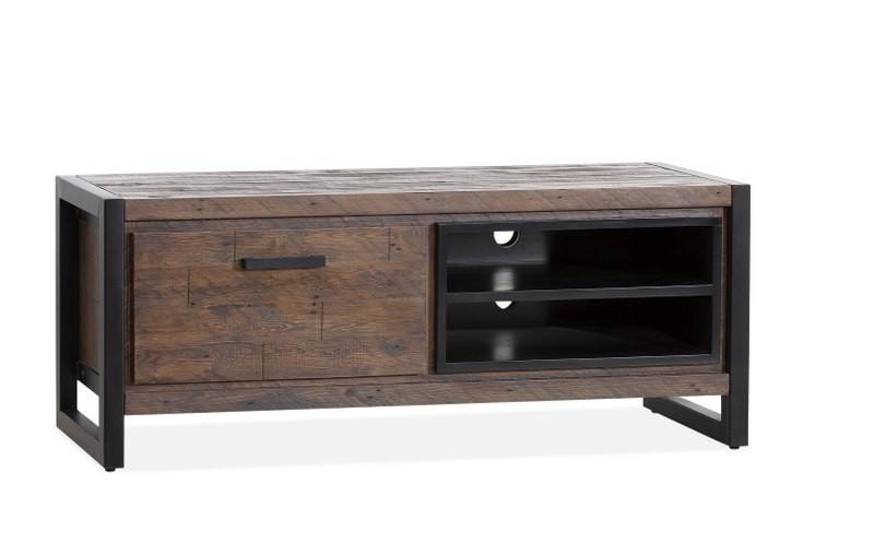 TV Schrank braun Industrie, Lowboard braun Industriedesign, Breite 130 cm