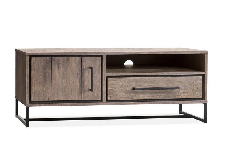 TV Schrank Metall Industriedesign,  Fernsehschrank Industriedesign, Breite 133 cm